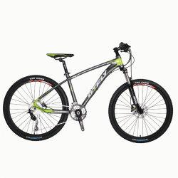 China Wholesale Bicystar Bastidor de fibra de carbono 21 velocidades suspensión total bicicleta MTB Shimano 26/27,5 pulgadas Bicicleta de Montaña de aluminio para la venta