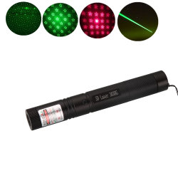Simva Laser 포인터 당 빛, 반짝임 별 모자를 가진 빨간 녹색 파랑 Laser 포인터 펜 빛, 고품질 Laser 포인터 빛, 빨간 Laser 포인터