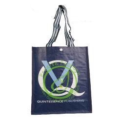 Novo Design Eco-Friendly Não Tecidos suporte para garrafa sacola promocional sacola de compras com o logotipo da operadora