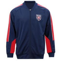 Chiusura lampo uniforme dei vestiti dell'abito di ginnastica di usura di sport di allenamento della tuta sportiva dell'annata della squadra di college Sporting urbana all'ingrosso del Mens con i fornitori Cina degli abiti sportivi di forma fisica di marchio
