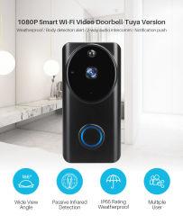 HD 1080P intelligente WiFi videotürklingel-Kamera-Sichtwechselsprechanlage-Nachtsicht IP-Türklingel-Radioapparat-Überwachungskamera