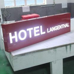 Restaurante iluminado Signage Hotel Guide levou Carta Caixa de Luz