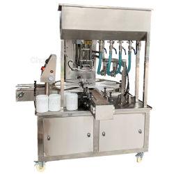 주방 청소 조직 포장 아기 수건 캔 포장 젖은 수건통 캐니스터 라벨 부착 캡 소독제 충진 로타리 유형 충진 밀봉 기계