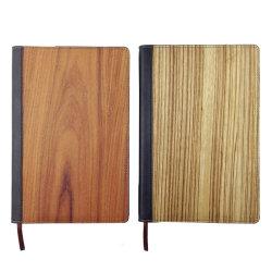 Combinaison en cuir en bois personnalisé le bloc-notes A5 A6 de bois couvercle de journal