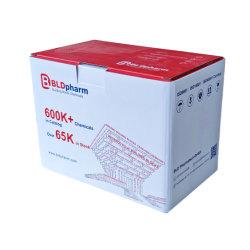 Großhandel Versand E B Wellpappe Papier Verpackung Box Benutzerdefinierte Farbe Logo Druck für chemische Produkte Verpackung und Lagerung