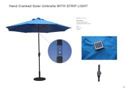9 أقدام أضواء LED فناء باراسول مظلات حديقة خارجية حمام سباحة شمسيى الطفيليات