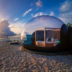 ロマンチックで明確で膨脹可能な泡テント、膨脹可能な泡家5mの馬小屋の結婚式の装飾のテント