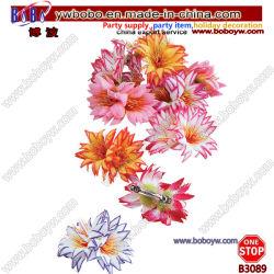 Flores artificiales Flores luau hawaiano Lei Collar Luau parte ornamento (B3055)