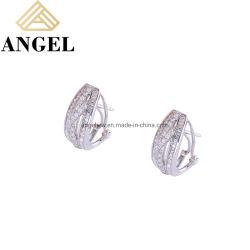 Novo chegar Omega Encaixar Brinco Qualidade 925 Sterling Silver padrão AAA Zircónia cúbicos brincos de finas jóias de luxo para casamento