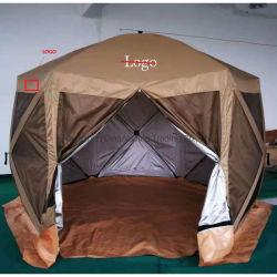 Tente à écran amovible de luxe 6 côtés pour pavillon Avec configuration facile en 60 secondes et porte à fermeture éclair