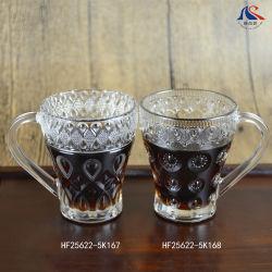 300ml 400ml 500ml Poignée de la bière claire Mug pour boire de verre Article de stock