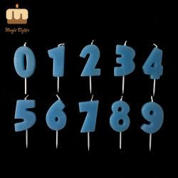 Темно-синяя яркий день рождения торт номер партии свечи на Memory Stick™
