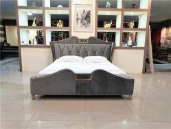 Arredamento camera da letto tappezzeria in tessuto Velet Letto King a parete