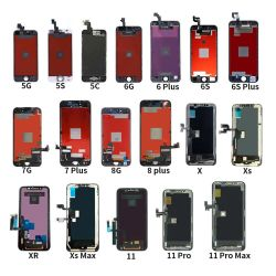 Мобильный телефон LCD для iPhone 5 6 6 7 8 splus S Plus X 11 ЖК-дисплей для iPhone Замена экранов для iPhone 11 ЖК-OEM