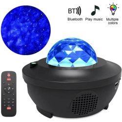 Ciel étoilé projecteur Blueteeth coloré USB Lecteur de musique de Voice Control Night Light LED lampe de projection de recharge USB Kids Don