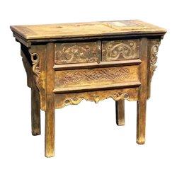 Ming & chinês Qing Altar Antigo Cabinet com madeira natural original