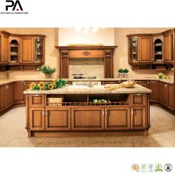 Madeira maciça de topo de mobiliário de cozinha