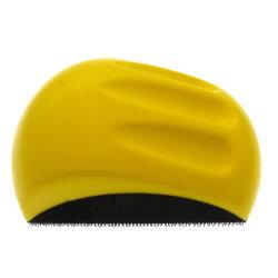 """5 """" 125mm jaune en forme de souris en mousse PU tampon de bloc de ponçage à la main à main pour disque de crochet et boucle"""