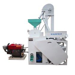 Sunfield Hersteller Preis Getreide Verarbeitungsmaschinen Agro Ausrüstung Reis Fräsen Maschine mit 30HP Dieselmotor elektrische Leistung
