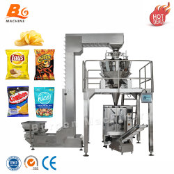 Automatic papas fritas o palomitas de maíz y frijoles/Semillas/máquina de envasado de arroz, plátano cortes Resopló de nitrógeno de la máquina de embalaje de alimentos