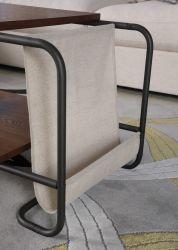 Moderno y elegante de doble capa puede poner el té de la revista la tabla