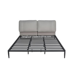 Venda por grosso de mobiliário Quarto de hotel moderno Home Ferro Couro estofadas e cama King-size