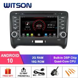 Auto DVD GPS des Witson Vierradantriebwagen-Kern Android-10 für Audi Tt 2006-2014 Spiegel-Link für androides Mobile+iPhone