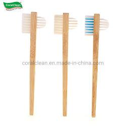 Groothandel 100% natuurlijke dubbele kant Bamboo gebit borstel valse tanden