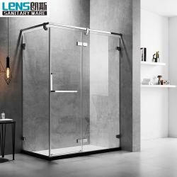 Châssis en acier inoxydable avec charnière porte de douche en verre de salle de douche