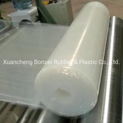 La résistance au feu rouge solide feuille de caoutchouc de silicone transparent