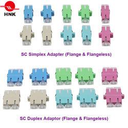 Sc/LC/FC/ST/MU/MTRJ/MPO Simplex/duplex/Quad/Monomodo Multimode OM3/OM4/APC Standard ou adaptador de Fibra Óptica híbrida