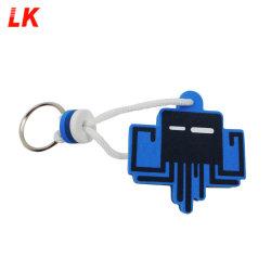 Preiswerte bekanntmachende Geschenke kundenspezifische Form-fördernde Felder mit Firmenzeichen-Schaumgummi-Schlüsselring/sich hin- und herbewegendem Schlüsselring/kundenspezifischer EVA Keychain
