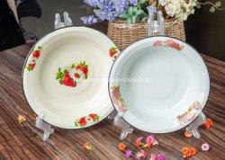 Decorados com esmalte prato de frutas da Bacia Hidrográfica Louça de mesa