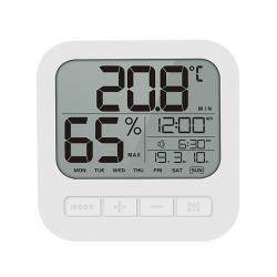 Mostrador de Alarma Digital funciona con batería de pared Reloj calendario con la temperatura humedad