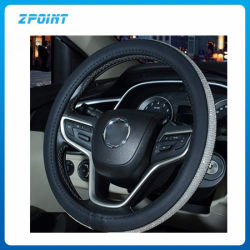 Accessoire de voiture cuir synthétique Bling couvercle du volant
