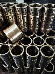 Latón de alta fuerza funda de cobre de grafito de lubricación automática casquillo de bronce de fundición sólida teniendo