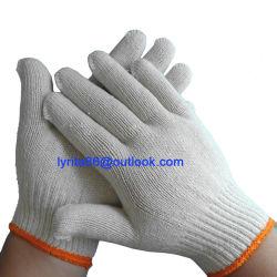 Günstige Weiße Baumwolle Gestrickte Sicherheits-Handhandschuhe Arbeitshandschuh Industrial Baumwollhandschuhe Landwirtschaft Gartenhandschuhe CE