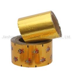Rollo de papel de embalaje de papel aluminio Film para el chocolate y Chicles embalaje