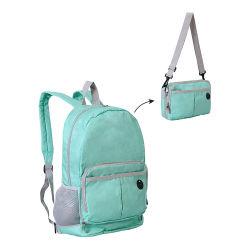 Novas tendências adolescentes Dobrável e leve fábrica de mochila escolar, Colapsáveis Travel mochila esportiva de caminhadas ao ar livre com Orifício para auscultadores