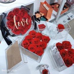 Fleur artificielle de la décoration de mariage de fleurs séchées préservés Real Touch