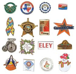 Sin MOQ Promoción Logotipo personalizado de metal 3D de la moda Pin de solapa militares de hojalata coche de policía del ejército Botón Soft Hard Nombre de esmalte blanco Insignia de Oro el emblema de regalo promocional