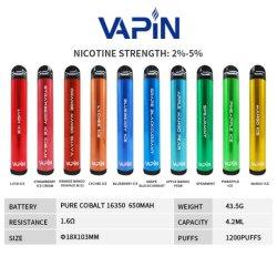 미국에서 가장 좋아하는 패스트 배송 1200 퍼프 스트로베리 향 일회용 베이퍼 판매용 펜