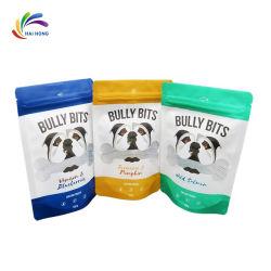 Curseur à l'emballage en plastique à fermeture éclair sac pour les aliments pour animaux