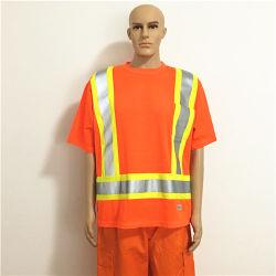High Vis Flame Retardant Fabric Orange Funktionelle Arbeitskleidung