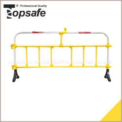 Barrera de la carretera de plástico/ Barrera de tráfico de tubo de PVC con pies de goma (S-1640A)