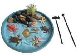 De mini van de Overzeese van de Tuin Zen Zandbak van de Desktop van de Uitrustingen Ambacht van het Leven voor Meditatie en Ontspanning