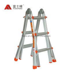 Estallaron las piernas con antideslizante de aluminio de la posición de multiuso Little Giant para escaleras escalera plegable