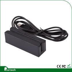 Doppel-Richtung Lesemöglichkeits-intelligenter 3 Spuren USB-Magnetkarten-Leser, USB-Kreditkarte-Leser-Einheit