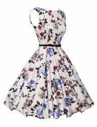 Vintage элегантный цветочный рокабилли коктейль поворотного механизма производителей одежды