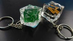 3D 로고 아크릴 Keychain 의 입방체 Keychain 의 아이스 큐브 Keychain